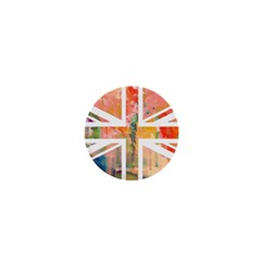 Union Jack Abstract Watercolour Painting 1  Mini Magnets