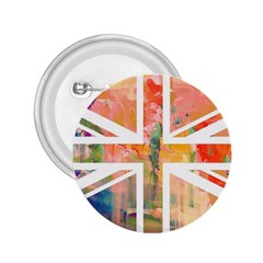 Union Jack Abstract Watercolour Painting 2 25  Buttons