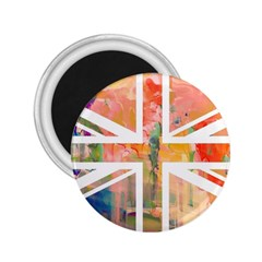 Union Jack Abstract Watercolour Painting 2 25  Magnets