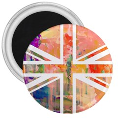 Union Jack Abstract Watercolour Painting 3  Magnets
