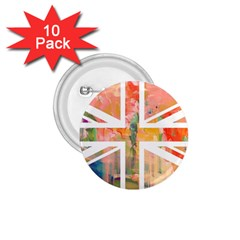 Union Jack Abstract Watercolour Painting 1.75  Buttons (10 pack)