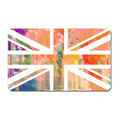 Union Jack Abstract Watercolour Painting Magnet (Rectangular)