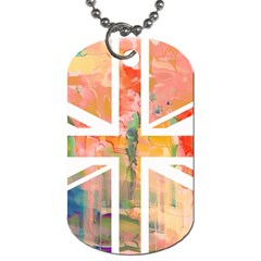 Union Jack Abstract Watercolour Painting Dog Tag (One Side)
