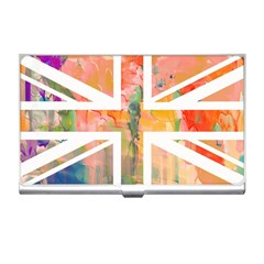 Union Jack Abstract Watercolour Painting Business Card Holders