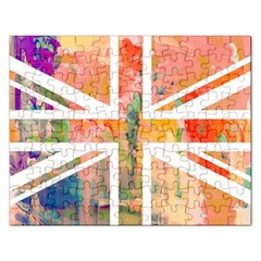 Union Jack Abstract Watercolour Painting Rectangular Jigsaw Puzzl