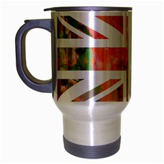 Union Jack Abstract Watercolour Painting Travel Mug (Silver Gray)