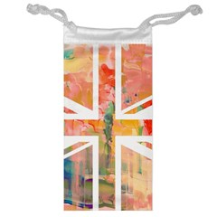Union Jack Abstract Watercolour Painting Jewelry Bag