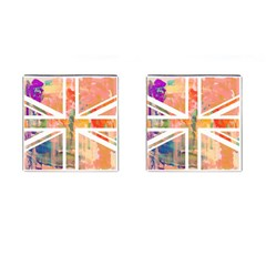 Union Jack Abstract Watercolour Painting Cufflinks (square)