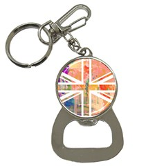 Union Jack Abstract Watercolour Painting Button Necklaces