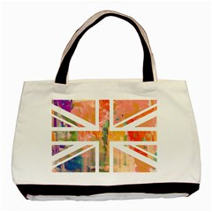 Union Jack Abstract Watercolour Painting Basic Tote Bag