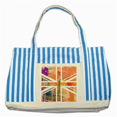 Union Jack Abstract Watercolour Painting Striped Blue Tote Bag