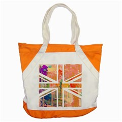 Union Jack Abstract Watercolour Painting Accent Tote Bag