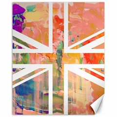 Union Jack Abstract Watercolour Painting Canvas 16  X 20