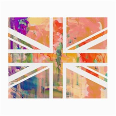 Union Jack Abstract Watercolour Painting Small Glasses Cloth (2 Side)