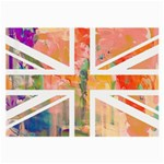 Union Jack Abstract Watercolour Painting Large Glasses Cloth (2-Side) Front