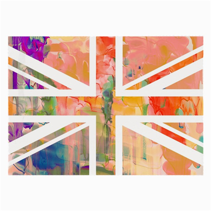Union Jack Abstract Watercolour Painting Large Glasses Cloth (2-Side)