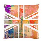Union Jack Abstract Watercolour Painting Standard Cushion Case (Two Sides) Back