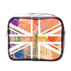 Union Jack Abstract Watercolour Painting Mini Toiletries Bags