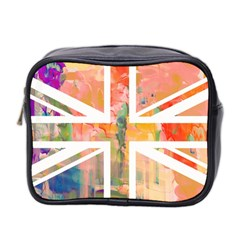 Union Jack Abstract Watercolour Painting Mini Toiletries Bag 2 Side