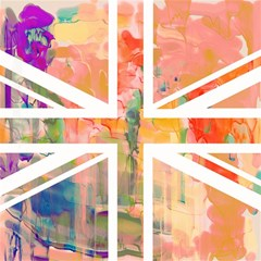 Union Jack Abstract Watercolour Painting Magic Photo Cubes