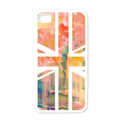 Union Jack Abstract Watercolour Painting Apple Iphone 4 Case (white)