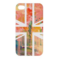Union Jack Abstract Watercolour Painting Apple iPhone 4/4S Hardshell Case