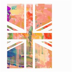 Union Jack Abstract Watercolour Painting Small Garden Flag (two Sides)