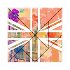Union Jack Abstract Watercolour Painting Acrylic Tangram Puzzle (6  x 6 )