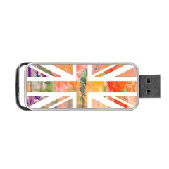 Union Jack Abstract Watercolour Painting Portable USB Flash (One Side)