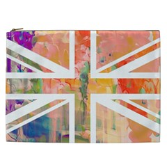 Union Jack Abstract Watercolour Painting Cosmetic Bag (XXL)