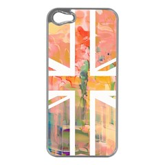 Union Jack Abstract Watercolour Painting Apple Iphone 5 Case (silver)