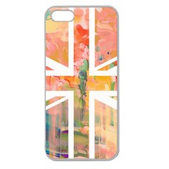 Union Jack Abstract Watercolour Painting Apple Seamless iPhone 5 Case (Clear)