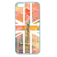 Union Jack Abstract Watercolour Painting Apple Seamless iPhone 5 Case (Color)