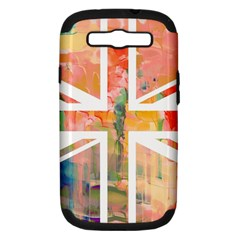 Union Jack Abstract Watercolour Painting Samsung Galaxy S III Hardshell Case (PC+Silicone)