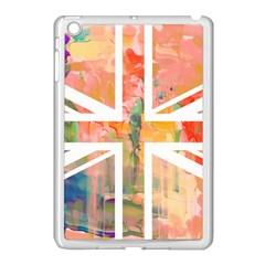 Union Jack Abstract Watercolour Painting Apple iPad Mini Case (White)