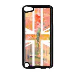 Union Jack Abstract Watercolour Painting Apple iPod Touch 5 Case (Black)