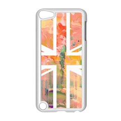 Union Jack Abstract Watercolour Painting Apple iPod Touch 5 Case (White)