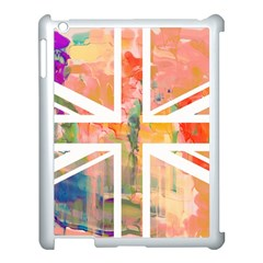 Union Jack Abstract Watercolour Painting Apple iPad 3/4 Case (White)