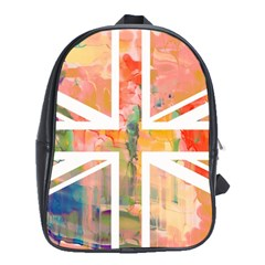 Union Jack Abstract Watercolour Painting School Bags (xl)