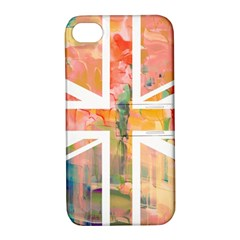 Union Jack Abstract Watercolour Painting Apple iPhone 4/4S Hardshell Case with Stand