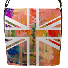 Union Jack Abstract Watercolour Painting Flap Messenger Bag (S)