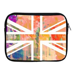 Union Jack Abstract Watercolour Painting Apple iPad 2/3/4 Zipper Cases