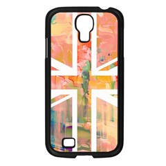 Union Jack Abstract Watercolour Painting Samsung Galaxy S4 I9500/ I9505 Case (Black)
