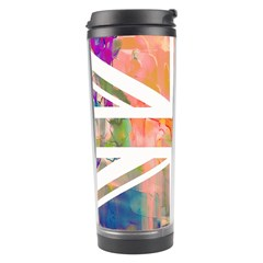 Union Jack Abstract Watercolour Painting Travel Tumbler