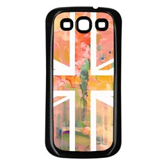Union Jack Abstract Watercolour Painting Samsung Galaxy S3 Back Case (Black)