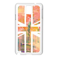 Union Jack Abstract Watercolour Painting Samsung Galaxy Note 3 N9005 Case (White)