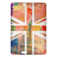 Union Jack Abstract Watercolour Painting Amazon Kindle Fire HD (2013) Hardshell Case