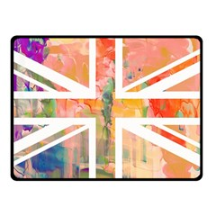 Union Jack Abstract Watercolour Painting Double Sided Fleece Blanket (Small)