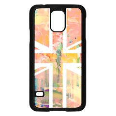 Union Jack Abstract Watercolour Painting Samsung Galaxy S5 Case (black)