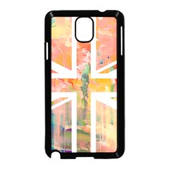 Union Jack Abstract Watercolour Painting Samsung Galaxy Note 3 Neo Hardshell Case (Black)